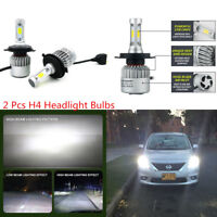 2 Pcs Car Bright White LED H4 9003 HB2 160W Headlight Driving Fog Light Bulbs