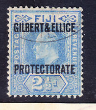 GILBERT & ELLICE IS EdVII 1911 SG4 21/2d of FIJI opt very fine used. Cat £50