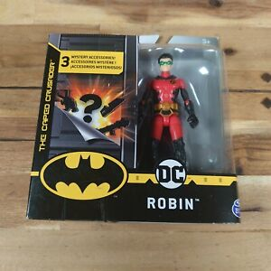 """Robin With Hood DC Batman The Caped Crusader 4"""" Figure RARE 1st Edition Version"""