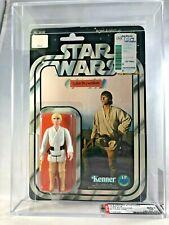 Luke Skywalker 12 Back B Vintage Kenner 1978 Star Wars AFA 80+ NM MOC Tatooine