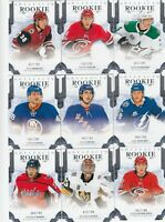 2017-18 UD ARTIFACTS lot of 9 DIFFERENTS ROOKIES /799  near mint LOT 45       a
