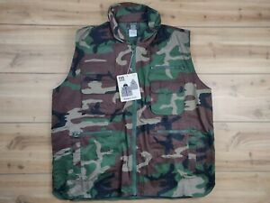 Fox Outdoor Camo Army Hunting Vest Front & Back Pockets Men XL Zip Front