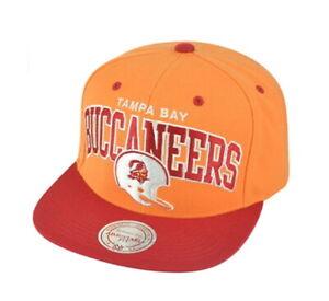 Mitchell & Ness Men's Tampa Bay Buccaneers Helmet Arch Adjustable Snapback Hat