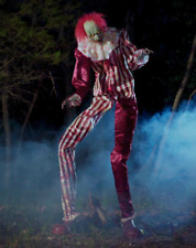 6.5 Ft Towering Creepy Carnival Clown Animatronic - Halloween Decoration NEW