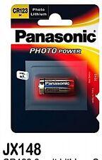 100 X Original BLISTER Cr123 Panasonic CR 123 a Photo Batteries Until 2024
