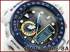 Casio G-Shock Gulf Master Triple Sensor Men's Watch White GWN1000E-8A