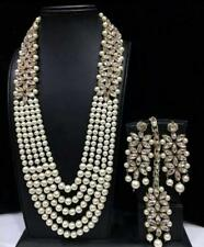 Indian Traditional Kundan Gold Plated Choker Necklace Earring Bridal Jewelry Set