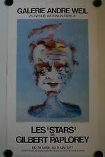 Affiche PAPLOREY 1977 Serge REGGIANI Galerie André Weil