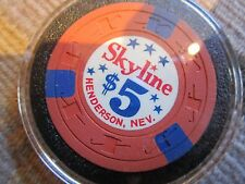 Rare Skyline $5 Casino Chip Henderson NV