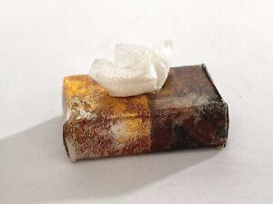 Miniature Dollhouse - Kleenex Replica Gold Foil Box Facial Tissue White Tissue