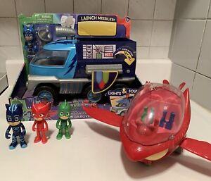 PJ Masks Super Moon Rover & Owlette Glider Vehicles Catboy Gecko Owlette toys