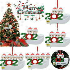 2020 Quarantine Stay at Home Family Of 3 Personalized Tree Christmas Ornament US