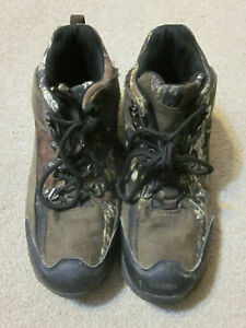 OZARK TRAIL Hiking Boots  lace-up Youth Sz 3- Camo Brown-minimal wear