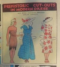 Alley Oop Sunday by VT Hamlin from 8/8/1937 Tabloid Size Page Rare! Paper Doll
