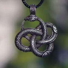Amulet Pendant Necklace Viking Talisman Valknut Odin 's Snake Symbol Norse