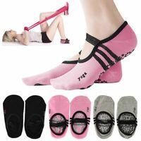 1-3Pairs Women Men Yoga Pilates Ballet Exercise Grips   Non Slip Skid Socks