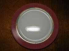 "Arcopal France POMPEI Set of 6 Large Dinner Plates 12"" Pink Rim"