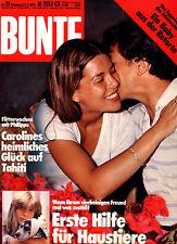Zeitschrift BUNTE Nr 31 von 1978, Cover Prinzessin Caroline v Monaco; John Wayne