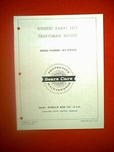 CRAFTSMAN TECUMSEH HORIZONTAL SHAFT ENGINE MODEL # 143.579022 PARTS MANUAL