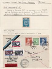 Post World War II. Baltic Camp Displaced Persons Camp.  Stamp and Cover.