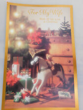 """New Vintage """"For My Wife --With All My Love at Christmas"""" Greeting Card"""