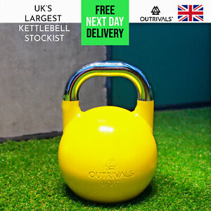 16kg Kettlebell Competition Style Heavy Duty Steel Fitness Gym Strength Training