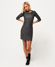 Superdry Womens Metallic Zip Back Knit Dress
