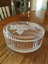 Crystal Trinket Box with etched rose