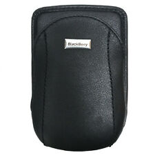 BlackBerry Leather Holster Pouch with Swivel Clip, Black 7250/7270/7210/7230+mor