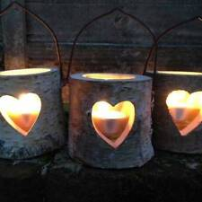 Wooden Country Tea Light Candle Holders & Accessories
