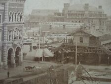 ANTIQUE NY & NEW HAVEN ELEVATED RR WALL PAPER DUMB WAITER SIGNS STEREOVIEW PHOTO