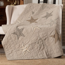 Farmhouse Country Primitive Sawyer Mill Star Quilted Throw 50X60 Vhc Brands