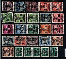 Briefmarken Generalgouvernement 14 - 39 gestempelt