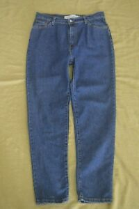 VINTAGE WOMENS LEVIS 512 SIZE 14 MED Classic SLIM FIT HIGH WAIST TAPERED LEG
