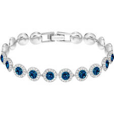 Authentic Swarovski Angelic Blue Bracelet With Clear Pave-Rrp $149
