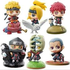 6pcs/Set Petit Chara Land Anime Naruto Shippuden PVC Figure Toy Cute Gift #6 N B
