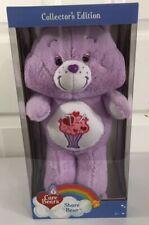 "Share Bear Care Bears 35th Anniversary Collector's Edition 13"" Purple Plush New"