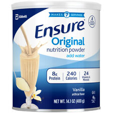 Ensure Original Nutrition Shake Powder Meal Replacement VANILLA 14 oz, can NEW