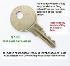 McDowell-Craig Desk and File Cabinet Replacement Keys 1451-1499