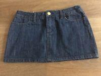 Ladies size 8 Dark Denim ROXY Mini Skirt - Excellent Con