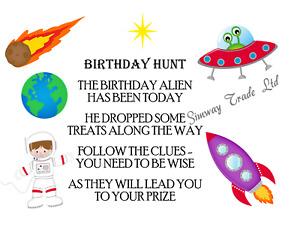 Boys Birthday Hunt Scavenger Clues Party Games Lockdown Kit Ideas