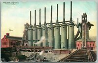 PITTSBURG PA MONONGAHELA RIVER MONSTER BLAST FURNACES ANTIQUE POSTCARD