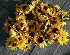 7 Kopf Künstliche Sonnenblumen Blumen Seidenblumen Busch Deko Künstlich Wie Echt