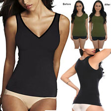 cadebeaf65677 Padded Shapewear Women Tank Top Body Shapers Seamless Cami Compression  Genie Bra