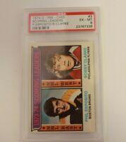 1974 O Pee Chee # 3 Phil Esposito Bobby Clarke Scoring Leaders PSA 6