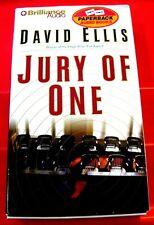 David Ellis Jury Of One 4-Tape Audio Book Sandra Burr Legal Thriller