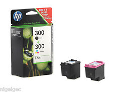 HP 300 COLOUR + HP300 BLACK INK CC643EE CC640EE ORIG HP