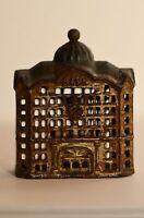Antique Cast Iron Bank Rare Collectible Cast Iron Bank Building