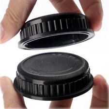 1x Rear Lens Caps Cover Round For Pentax PK 18-55mm 55-300m 40mm Black Set