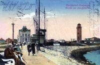 Ansichtskarte Nordseebad Cuxhaven Partie am Leuchtturm - 00296
